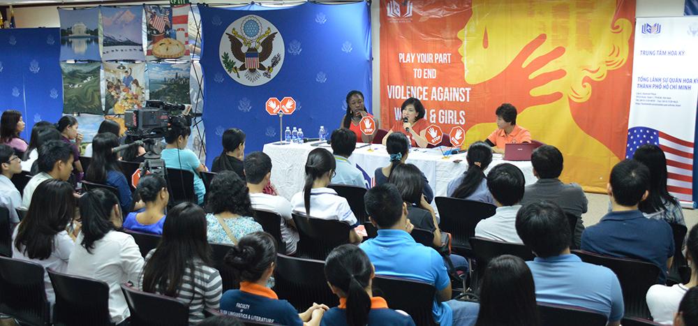 Các diễn giả: Malikat Rufai, Trần Thị Ái Liên, Nguyễn Thị Hậu