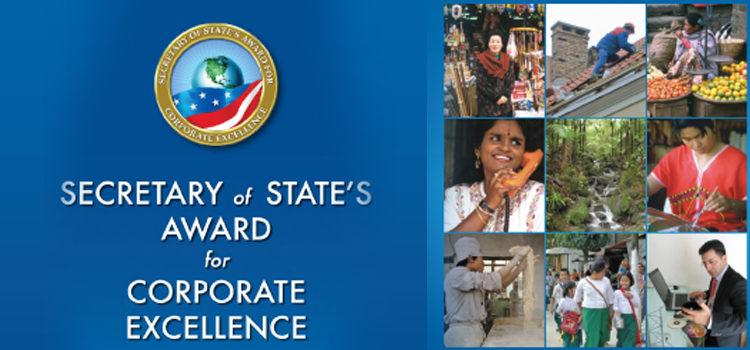 Giải thưởng doanh nghiệp xuất sắc 2015 của Ngoại trưởng Hoa Kỳ