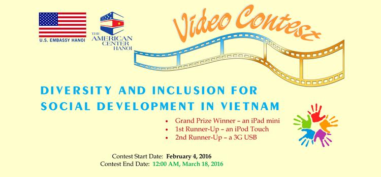 Cuộc thi tạo video về Đa dạng và hòa nhập xã hội ở Việt Nam
