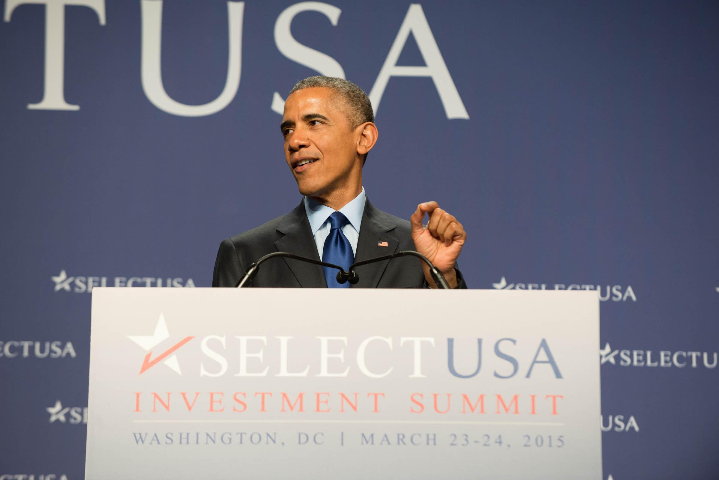 Tổng thống Mỹ phát biểu tại Hội nghị Lựa chọn Đầu tư vào Hoa Kỳ 2015