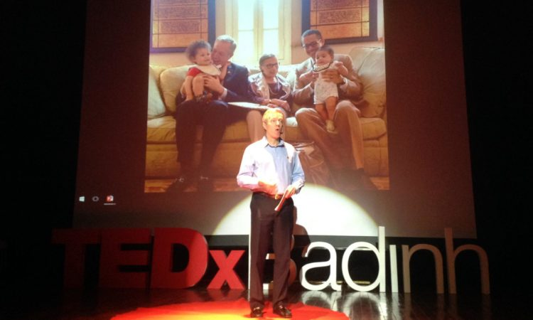 Ambassador Osius talks about 'Love and Purpose' at TEDxBaDinh.