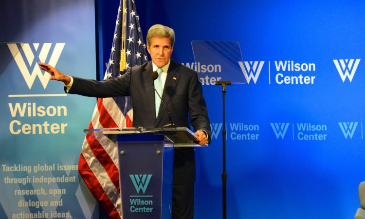 Delivering remarks on the Trans-Pacific Partnership, at the Woodrow Wilson Center for International Scholars, in Washington, D.C. on September 28, 2016. [State Department Photo]