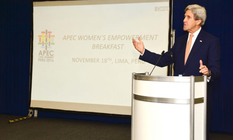 Secretary Kerry Delivers Remarks at the APEC Women's Empowerment Breakfast in Lima