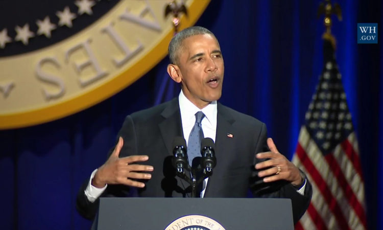 President Obama delivered his Farewell Address in Chicago on January 10, 2017