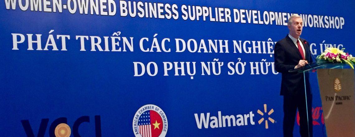 Ambassador Osius's Remarks at the AmCham-WalMart Workshop on Women-Owned Business Supplier