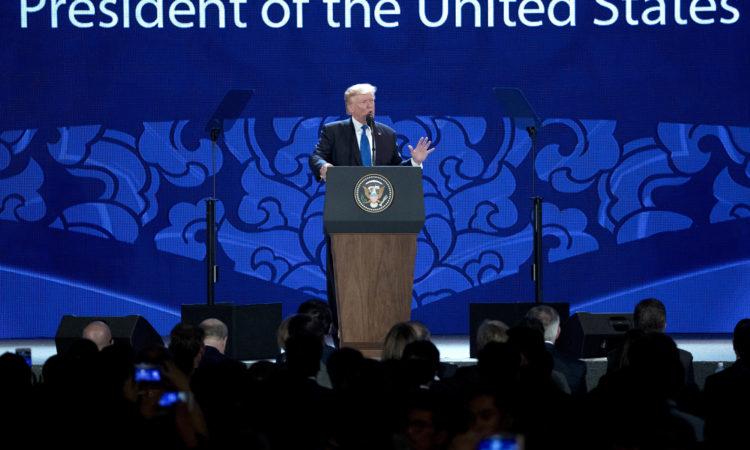 Phát biểu của Tổng thống Trump tại Hội nghị Thượng đỉnh Doanh nghiệp APEC (Ảnh AP)