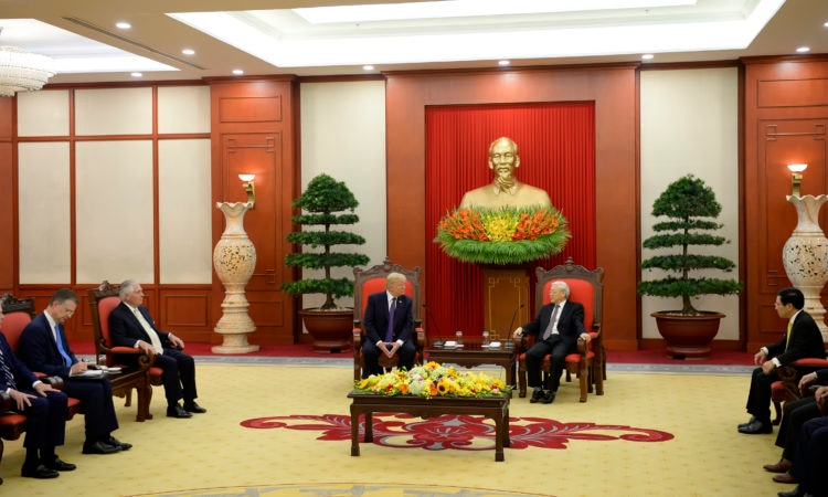 President Trump at Expanded Bilateral Meeting with Secretary General Trong of the Communist Party of Vietnam, 11/12/2017