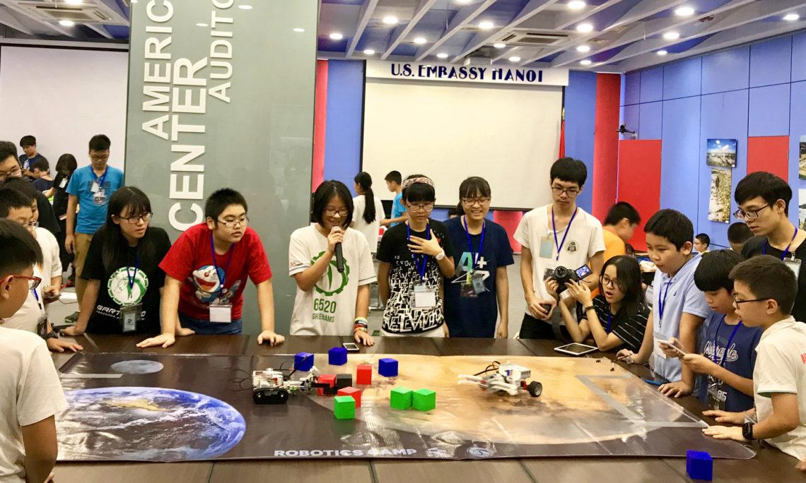 Local Students Learn Tech Skills at U.S. Embassy Robotics Camp