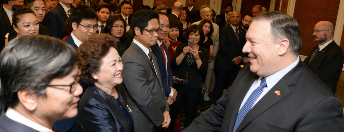 Secretary of State Michael R. Pompeo at a Business Community Reception in Hanoi, Vietnam