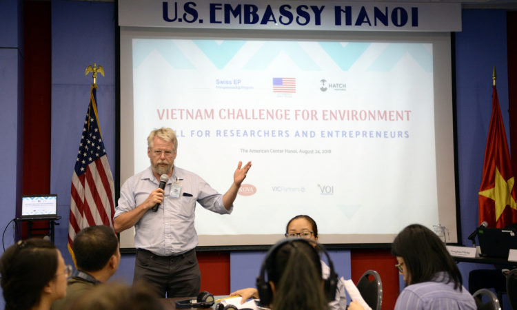 """John Sechrest, founder of the Seattle Angel Conference, the Lean Startup Seattle Group delivered remarks at the opening of the """"Vietnam Challenge for Our Environment"""""""