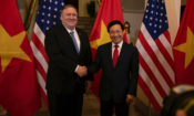 U.S. Secretary of State Michael R. Pompeo meets with Vietnamese Deputy Prime Minister and Foreign Minister Pham Binh Minh in Hanoi, Vietnam on February 26, 2019. [State Department photo by Ron Przysucha/ Public Domain]