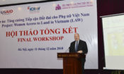 USAID/Vietnam Deputy Mission Director Craig Hart speaks at Land Access for Women Program Close-out Event