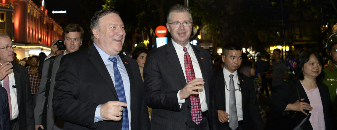 Secretary Pompeo enjoyed walking around Hoan Kiem Lake
