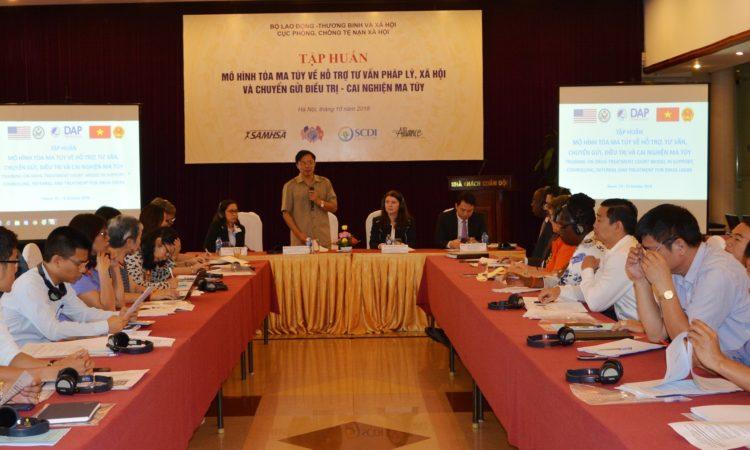 Ông Nguyễn Xuân Lập, Cục trưởng Cục phòng chống tệ nạn xã hội (Bộ LĐTB&XH) phát biểu tại lễ khai mạc