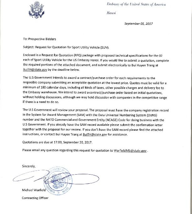BizopsSuvInvitationLetter  US Embassy  Consulate In